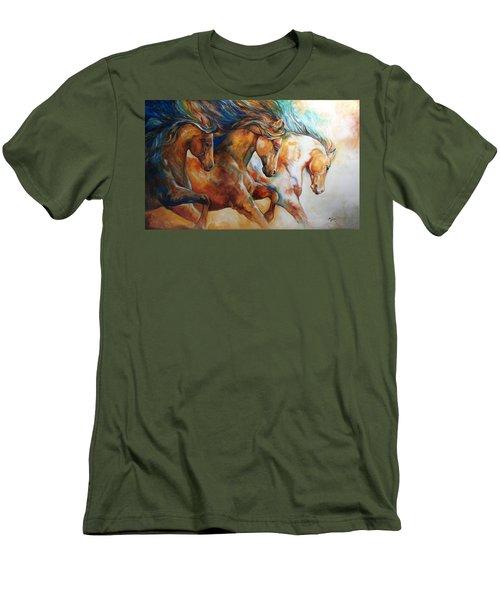 Wild Trio Run Men's T-Shirt (Athletic Fit)