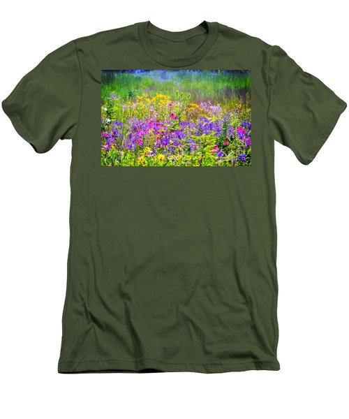 Wildflower Beauty  Men's T-Shirt (Athletic Fit)