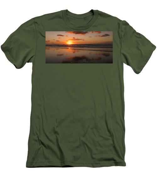Wildwood Beach Sunrise Men's T-Shirt (Slim Fit) by David Dehner