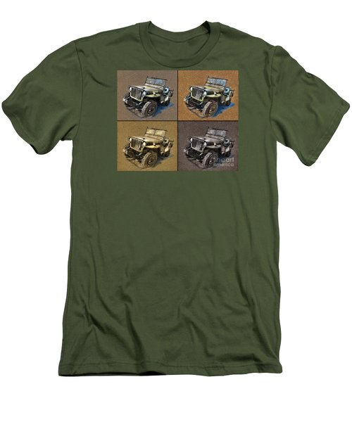 Willys Jeep Mb Car Drawing Men's T-Shirt (Athletic Fit)