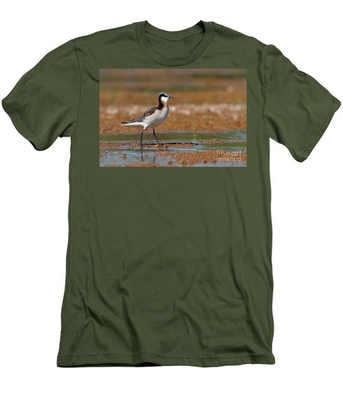Wilson's Phalarope Calling Men's T-Shirt (Athletic Fit)