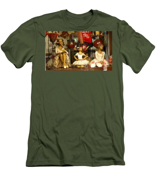 Men's T-Shirt (Slim Fit) featuring the photograph Window Shopping by Leena Pekkalainen