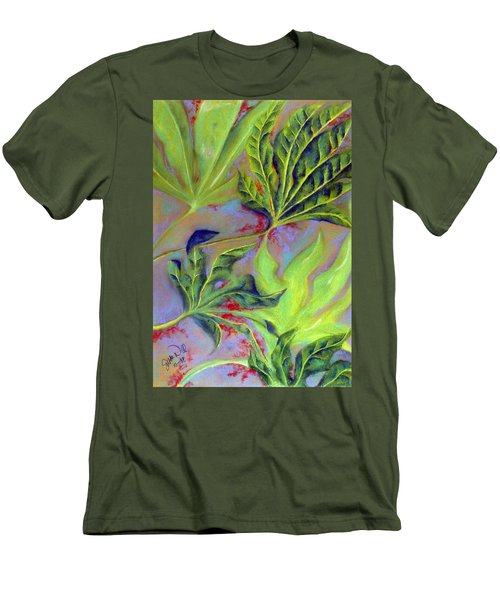 Men's T-Shirt (Slim Fit) featuring the pastel Windy by Susan Will