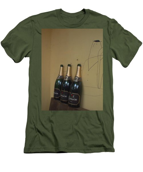 Wine And A Man Men's T-Shirt (Athletic Fit)