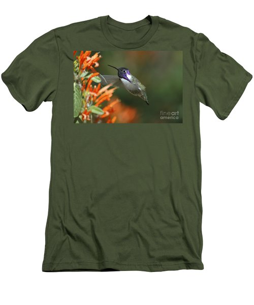 Men's T-Shirt (Slim Fit) featuring the photograph Winged Jewelry by Wilma  Birdwell