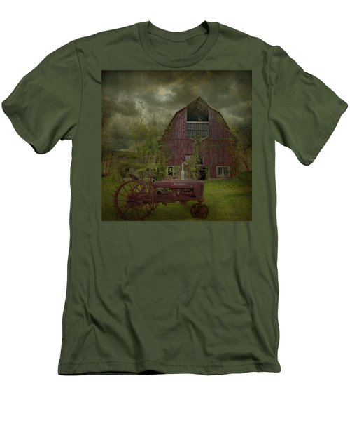Wisconsin Barn 3 Men's T-Shirt (Slim Fit)