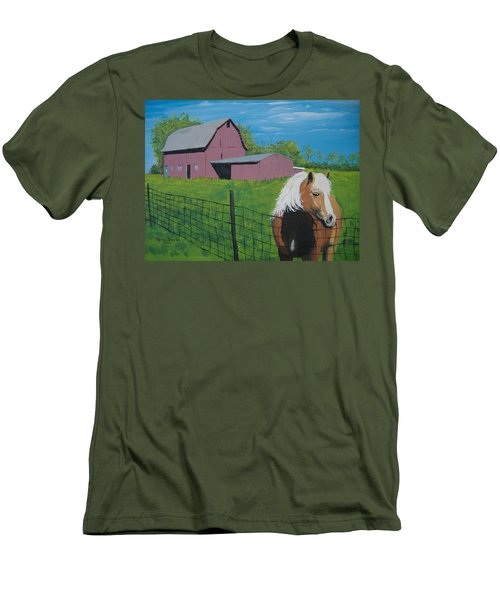 Wisconsin Barn Men's T-Shirt (Athletic Fit)
