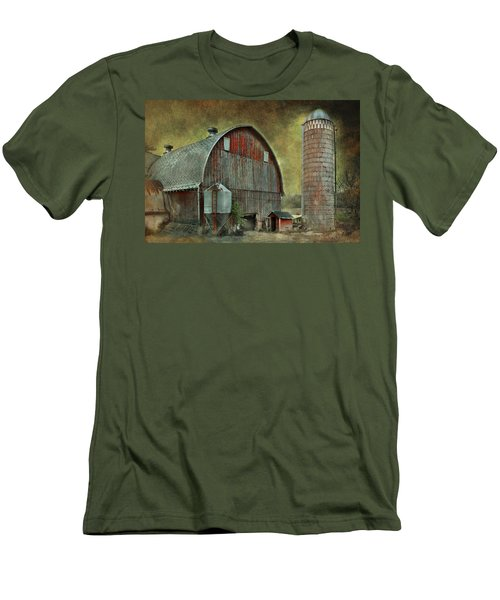 Wisconsin Barn - Series Men's T-Shirt (Slim Fit) by Jeff Burgess