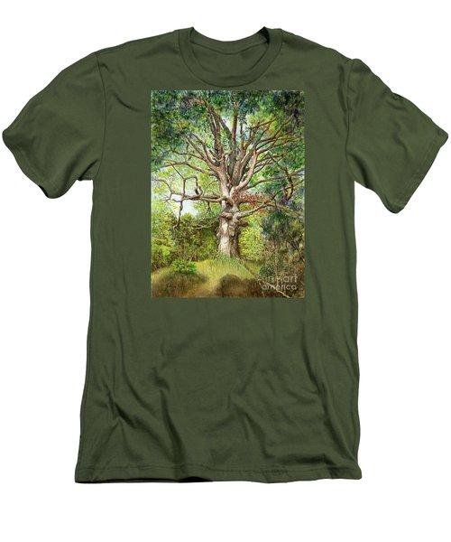 Wisdom Men's T-Shirt (Slim Fit) by Nancy Cupp