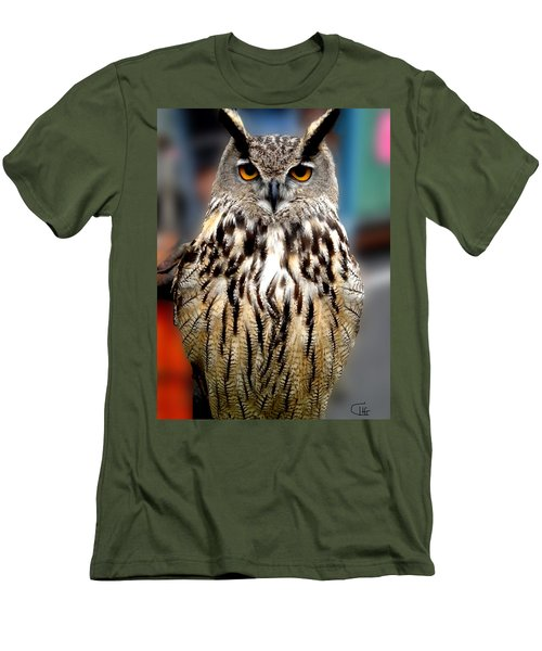 Wise Forest Mountain Owl Spain Men's T-Shirt (Athletic Fit)