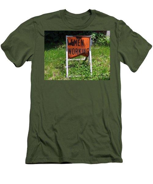 Men's T-Shirt (Slim Fit) featuring the photograph Women Working by Ed Weidman
