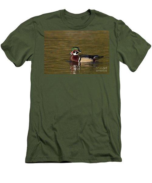 Wood Duck Calling Men's T-Shirt (Slim Fit) by Bryan Keil