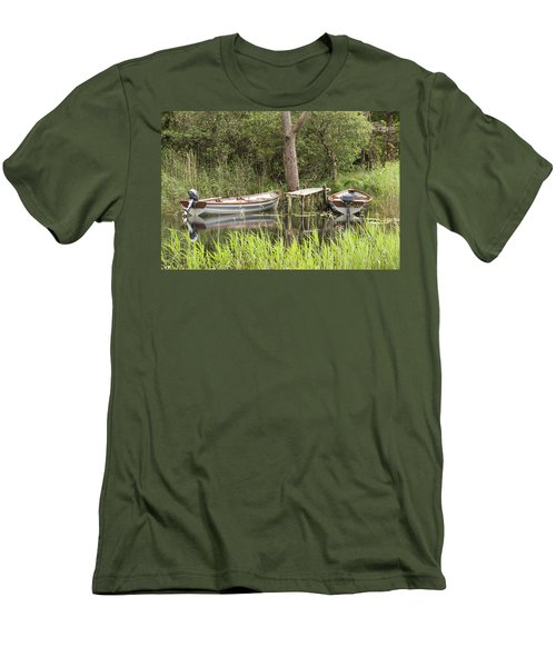 Men's T-Shirt (Slim Fit) featuring the photograph Wooden Boats by Jeremy Voisey
