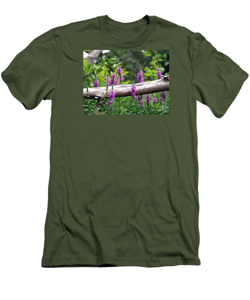Men's T-Shirt (Slim Fit) featuring the photograph Woodland Treasures by Susan  Dimitrakopoulos