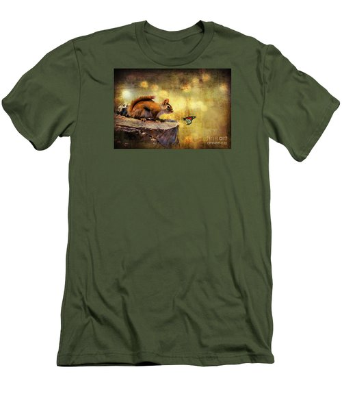 Men's T-Shirt (Slim Fit) featuring the photograph Woodland Wonder by Lois Bryan
