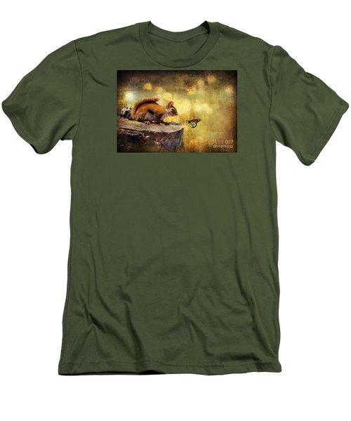 Woodland Wonder Men's T-Shirt (Slim Fit) by Lois Bryan