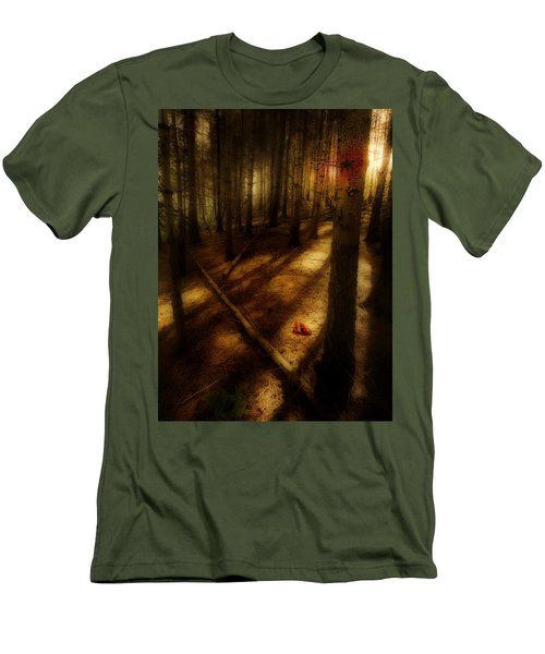Woods With Pine Cones Men's T-Shirt (Slim Fit) by Meirion Matthias