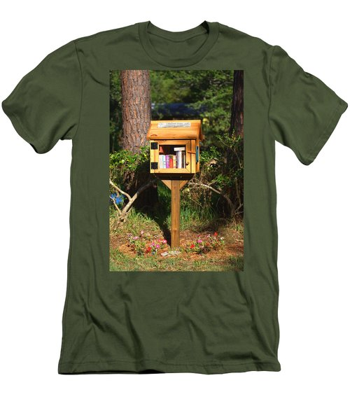 Men's T-Shirt (Slim Fit) featuring the photograph World's Smallest Library by Gordon Elwell
