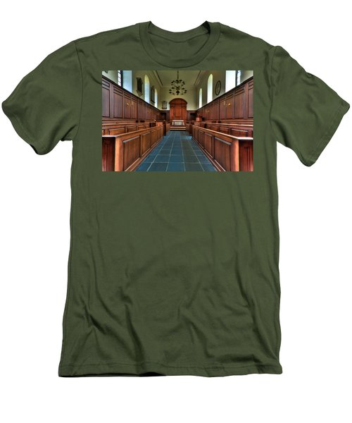 Men's T-Shirt (Slim Fit) featuring the photograph Wren Chapel Interior by Jerry Gammon