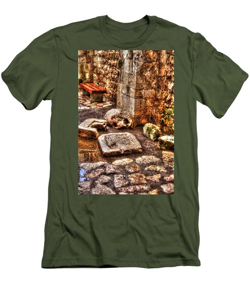 Men's T-Shirt (Slim Fit) featuring the photograph Stones That Don't Lie - Israel by Doc Braham