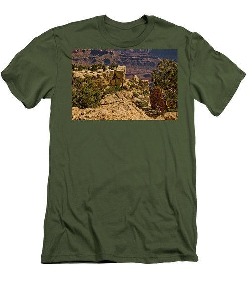 Men's T-Shirt (Slim Fit) featuring the photograph Yaki Point 3 The Grand Canyon by Bob and Nadine Johnston