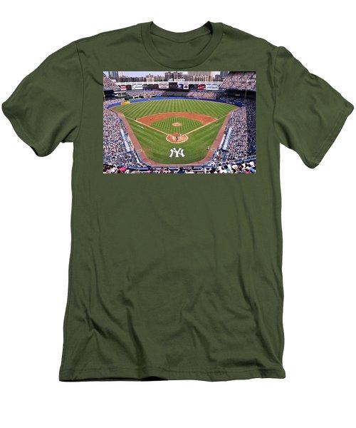 Yankee Stadium Men's T-Shirt (Slim Fit) by Allen Beatty