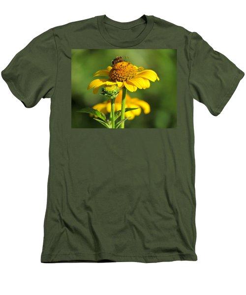 Yellow Daisy Men's T-Shirt (Slim Fit) by David T Wilkinson