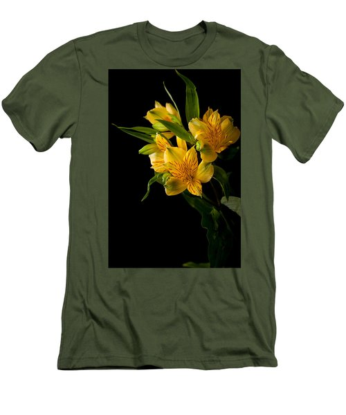 Men's T-Shirt (Slim Fit) featuring the photograph Yellow Flowers by Sennie Pierson