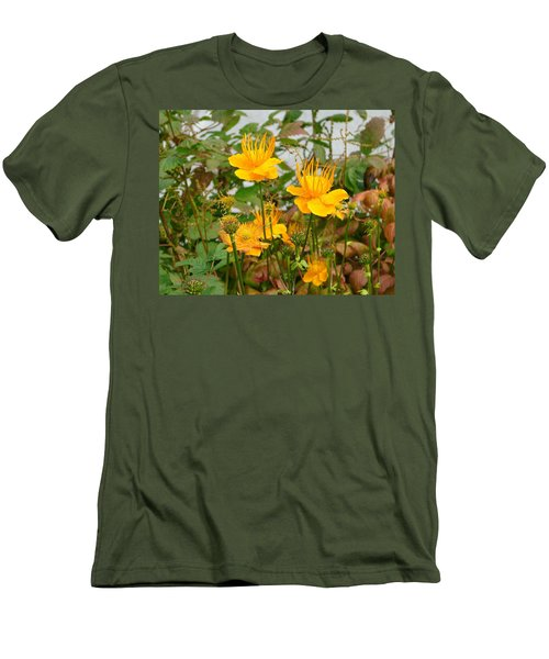 Men's T-Shirt (Slim Fit) featuring the photograph Yellow Is Golden by Lew Davis