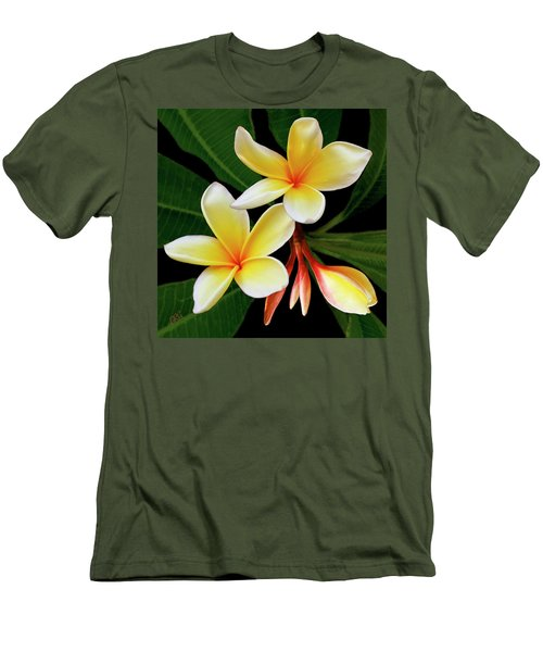 Yellow Plumeria Men's T-Shirt (Athletic Fit)