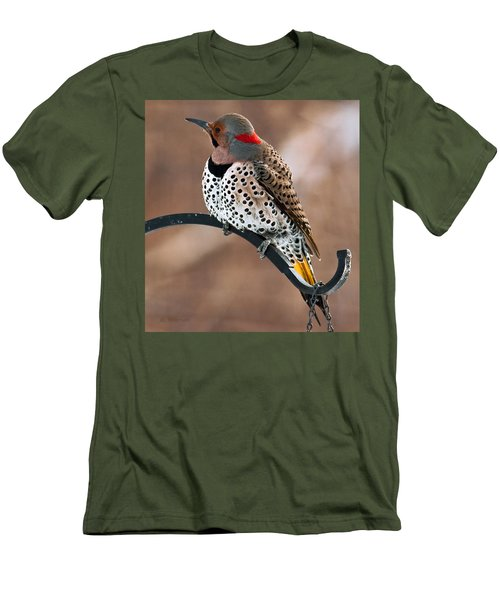 Yellow-shafted Northern Flicker Men's T-Shirt (Athletic Fit)
