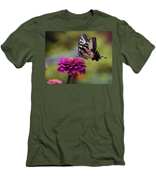 Yellow Tiger Swallowtail Butterfly Men's T-Shirt (Slim Fit) by Kay Novy