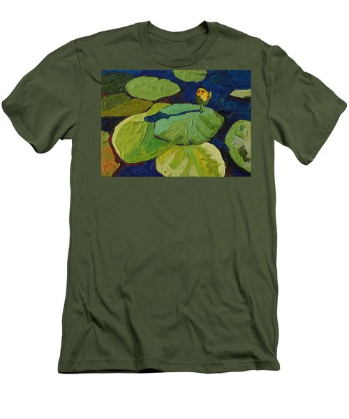 Yellow Waterlily Men's T-Shirt (Slim Fit) by Phil Chadwick