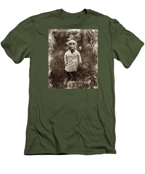 Yoda Star Wars Antique Photo Men's T-Shirt (Slim Fit) by Tony Rubino