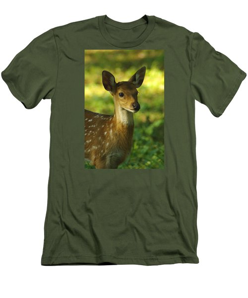 Young Spotted Deer Men's T-Shirt (Athletic Fit)