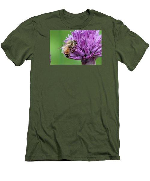 Yummm Chive Nectar Men's T-Shirt (Slim Fit) by Lucinda VanVleck