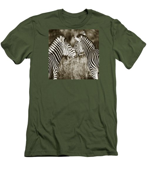 Zebra Affection Men's T-Shirt (Athletic Fit)