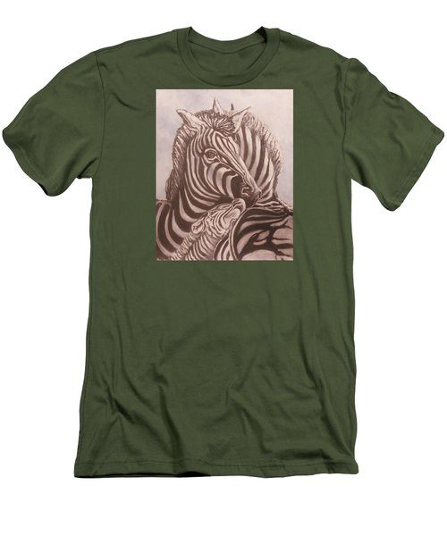 Zebra Family Men's T-Shirt (Athletic Fit)