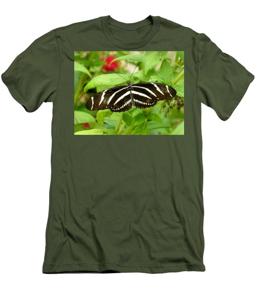Zebra Longwing Men's T-Shirt (Athletic Fit)