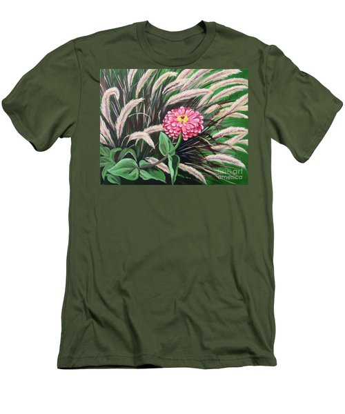 Zinnia Among The Grasses Men's T-Shirt (Athletic Fit)