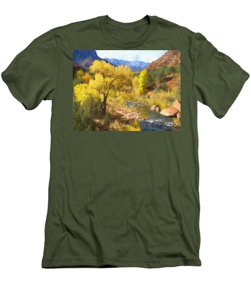 Zion National Park Men's T-Shirt (Athletic Fit)