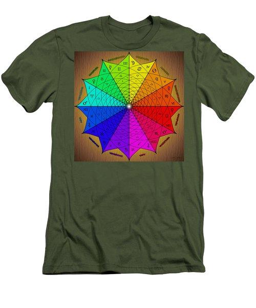 Zodiac Color Star Men's T-Shirt (Athletic Fit)