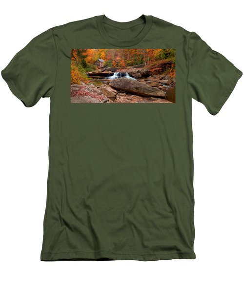 Autumn Leaves At The Mill Men's T-Shirt (Athletic Fit)