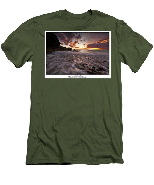 Sunset Tides - Porth Swtan Men's T-Shirt (Slim Fit) by Beverly Cash