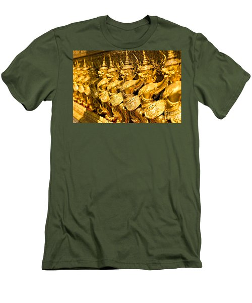 Men's T-Shirt (Slim Fit) featuring the photograph  Wat Phra Kaeo by Luciano Mortula
