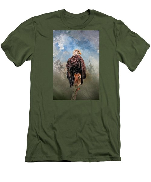 Men's T-Shirt (Slim Fit) featuring the digital art American Bald Eagle by Mary Almond