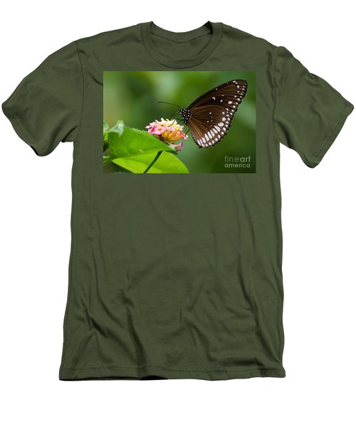 Butterfly Men's T-Shirt (Slim Fit) by Fotosas Photography