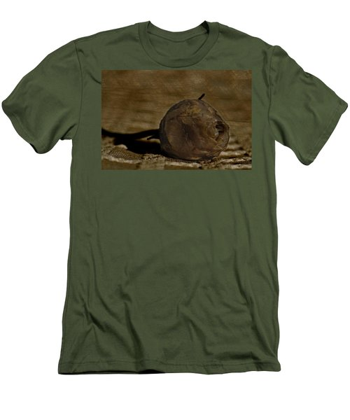 Men's T-Shirt (Slim Fit) featuring the photograph Dead Rosebud by Steve Purnell
