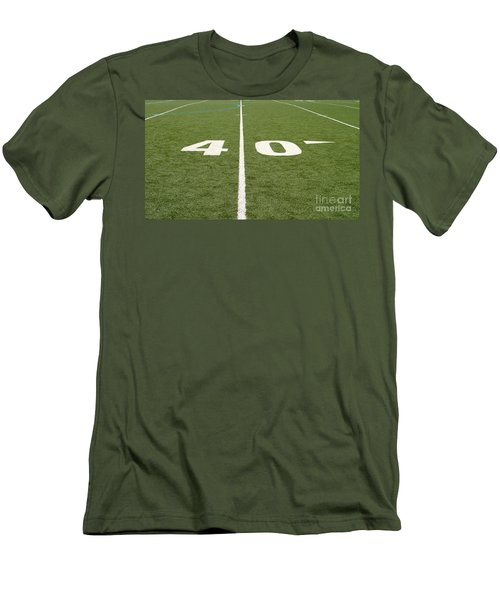 Football Field Forty Men's T-Shirt (Athletic Fit)