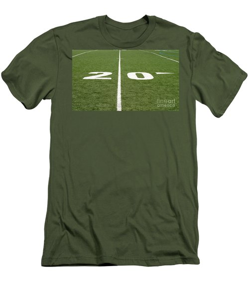 Men's T-Shirt (Slim Fit) featuring the photograph Football Field Twenty by Henrik Lehnerer